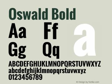 Oswald Bold Version 2.002 Font Sample