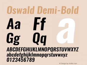 Oswald Demi-Bold 3.0 Font Sample