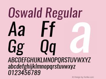 Oswald Regular 3.0 Font Sample