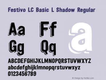 festivo lc basic font free download