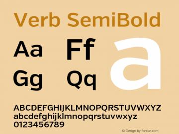 Verb SemiBold Version 2.002 2014 Font Sample