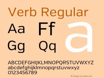 Verb Regular Version 2.002 2014 Font Sample