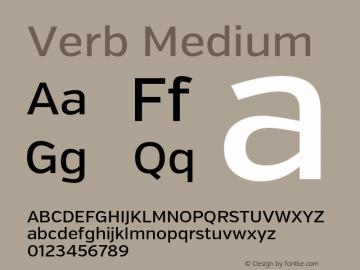Verb Medium Version 2.002 2014 Font Sample