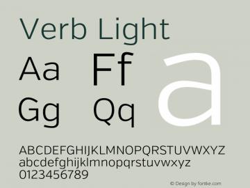 Verb Light Version 2.002 2014 Font Sample