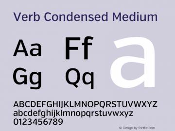 Verb Condensed Medium Version 2.002 2014 Font Sample