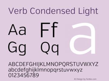 Verb Condensed Light Version 2.002 2014 Font Sample