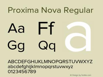 Proxima Nova Regular Version 1.101;PS 001.001;hotconv 1.0.38 Font Sample