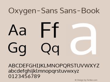 Oxygen-Sans Sans-Book 0.4; ttfautohint (v0.95.21-fb14) -l 8 -r 50 -G 200 -x 0 -w