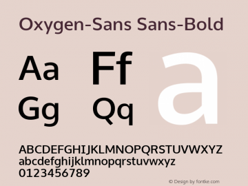 Oxygen-Sans Sans-Bold 0.4; ttfautohint (v0.95.21-fb14) -l 8 -r 50 -G 200 -x 0 -w
