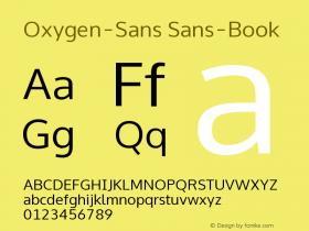 Oxygen-Sans Sans-Book 0.4 Font Sample