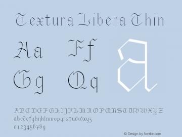 Textura Libera Thin Version 0.2.2 Font Sample