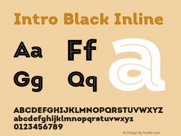 Intro Black Inline Version 1.000 Font Sample