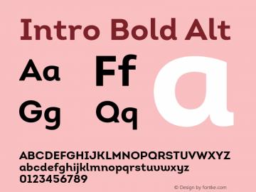 Intro Bold Alt Version 1.000 Font Sample