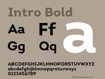Intro Bold Version 1.000 Font Sample