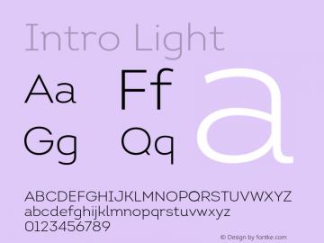 Intro Light Version 1.000 Font Sample