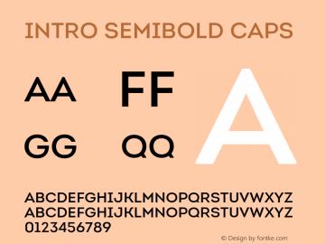 Intro SemiBold Caps Version 1.000 Font Sample