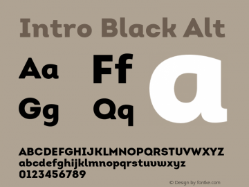Intro Black Alt Version 1.000 Font Sample