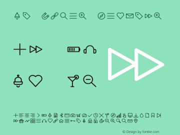 Glyphter Regular Version 1.0 Font Sample