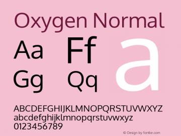Oxygen Normal Version Release 0.2.2 webfont; ttfautohint (v0.8.52-bc40) -l 6 -r 72 Font Sample