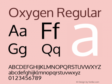 Oxygen Regular Version Release 0.2; ttfautohint (v0.94.20-1c74-dirty) -l 8 -r 50 -G 200 -x 0 -w