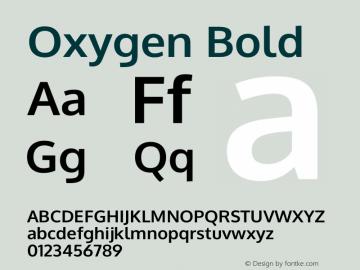 Oxygen Bold Version 0.2.3 webfont Font Sample