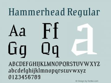 Hammerhead Regular Macromedia Fontographer 4.1.2 31.07.2001 Font Sample