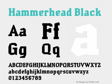 Hammerhead Black Version 001.000 Font Sample