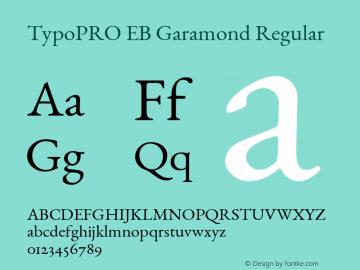 TypoPRO EB Garamond Regular Version 000.015 Font Sample