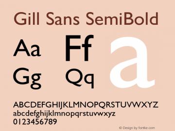 Gill Sans SemiBold 9.0d6e1 Font Sample