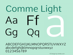 Comme Light Version 2图片样张