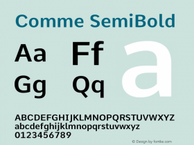 Comme SemiBold Version 2图片样张
