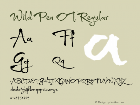 Wild Pen OT Regular Version 1.000 Font Sample