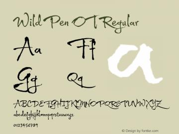 Wild Pen OT Regular Version 1.000图片样张
