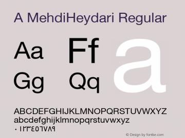 A MehdiHeydari Regular Version 1.00 May 10, 2014, initial release图片样张
