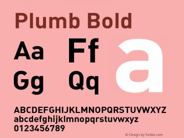 шрифт Plumb concedensed