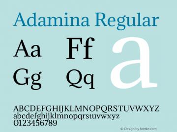 Adamina Regular Version 1.010 Font Sample