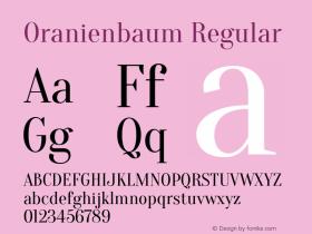 Oranienbaum Regular Version 1.001图片样张