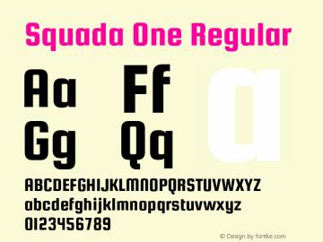 Squada One Regular Version 1.001图片样张