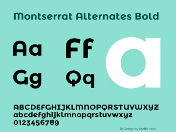 Montserrat Alternates Bold Version 2.001图片样张