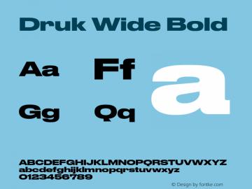 Druk Wide Fontdrukwide Bold Fontdruk Wide Bold Fontdrukwide Bold