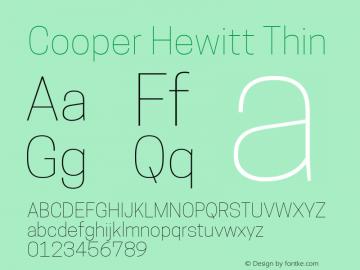 Cooper Hewitt Thin 1.000 Font Sample