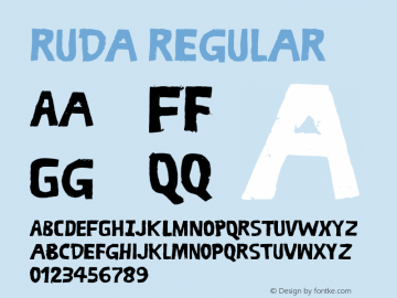 Ruda Regular 1.000 Font Sample