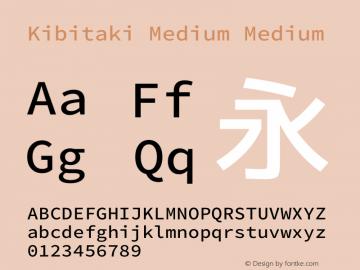 Kibitaki Medium Medium Kibitaki-20140621 Font Sample
