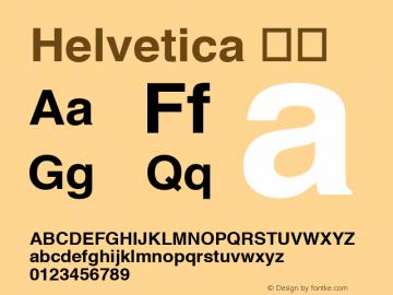 Helvetica 粗体 9.0d3e2 Font Sample