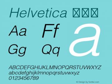 Helvetica 细斜体 9.0d3e2 Font Sample