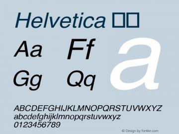 Helvetica 斜体 9.0d3e2 Font Sample