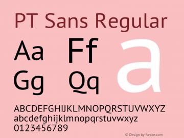 PT Sans Regular Version 2.003 Font Sample