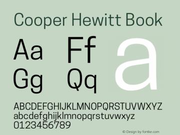 Cooper Hewitt Book 1.000 Font Sample