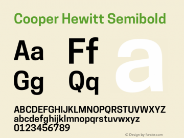 Cooper Hewitt Semibold 1.000 Font Sample