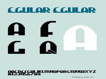 Regular Regular Version 1.0 Font Sample